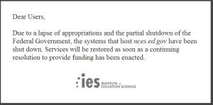 HBS website government down - shutdown
