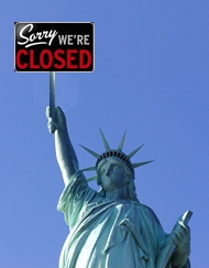 Sorry we are closed statue of liberty