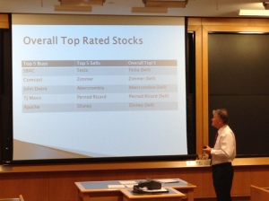 Best stock pitches from students in the business valuation class